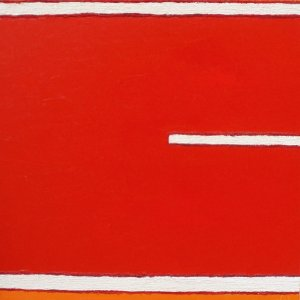 marha-art obraz WHITE LINE IN RED